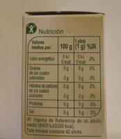 Extracto de Stevia - Información nutricional
