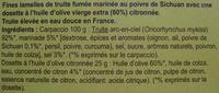 Truite fumée façon Carpaccio à l'huile d'olive et au poivre de Sichuan (5 tranches) - 100 g - Ingrédients - fr