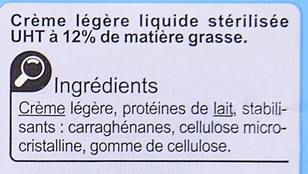 Crème fluideLégère - Ingrediënten