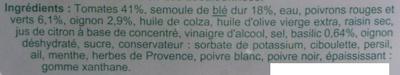 Taboulé au tartare de tomate - Ingrédients - fr