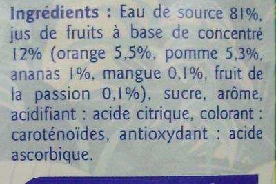 Boisson aux fruits Saveur Tropical - Ingrédients