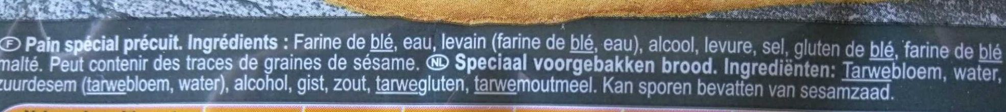 Baguette précuite - Ingrédients - fr