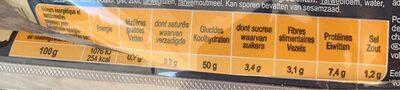 Baguette précuite - Informations nutritionnelles - fr