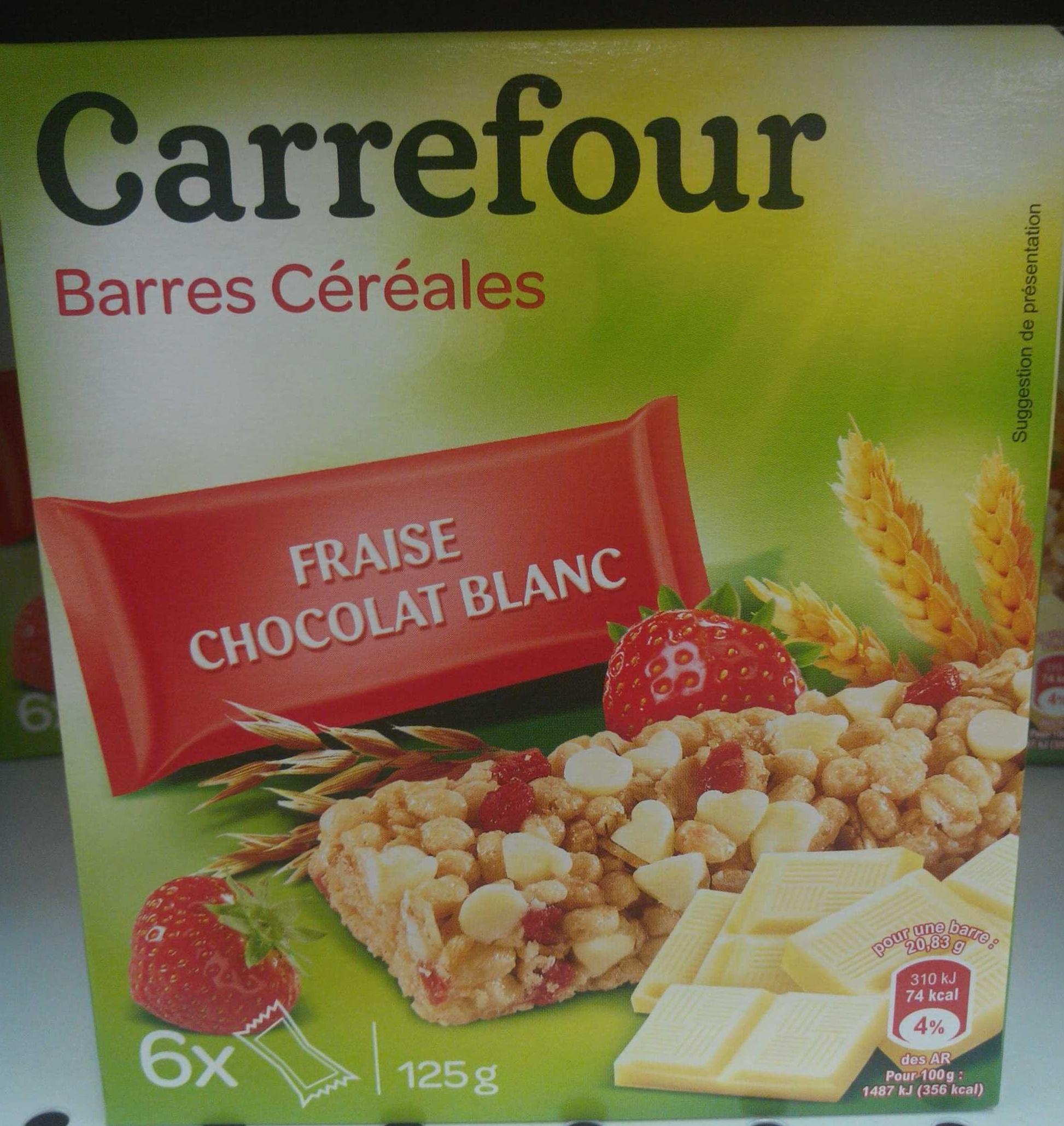Barres céréales fraise chocolat blanc - Produit - fr