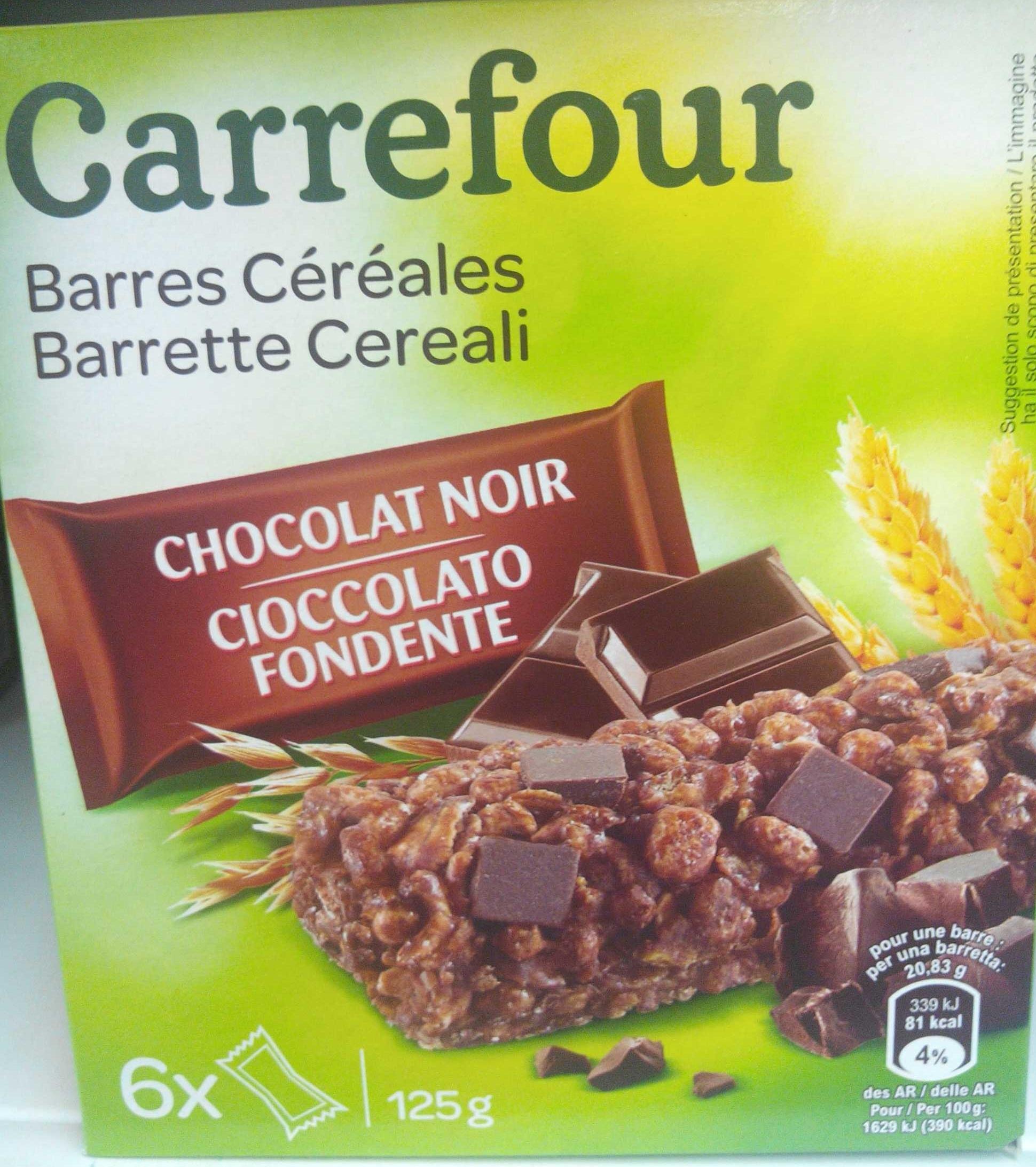 Barres céréales chocolat noir - Produit - fr