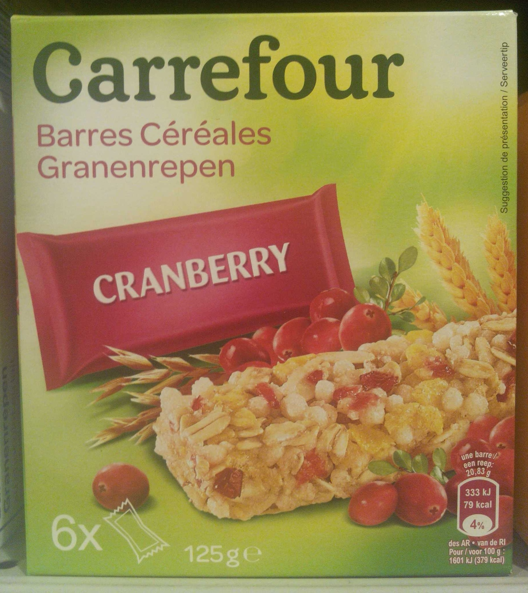Barres Céréales Cranberry - Product - fr