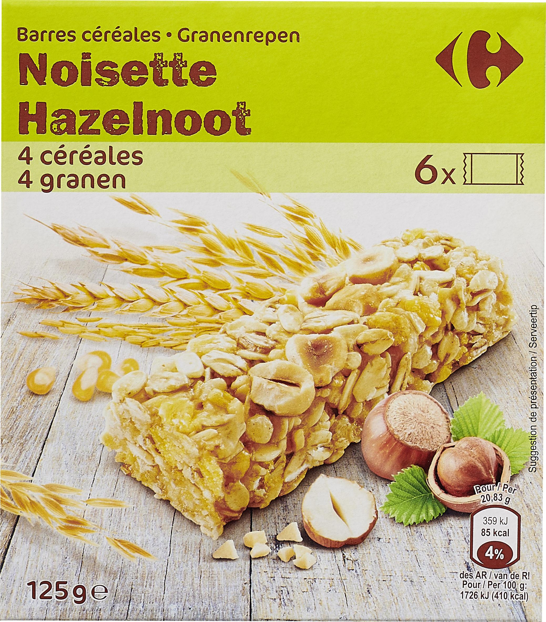 Barres céréales noisette - Producto - es
