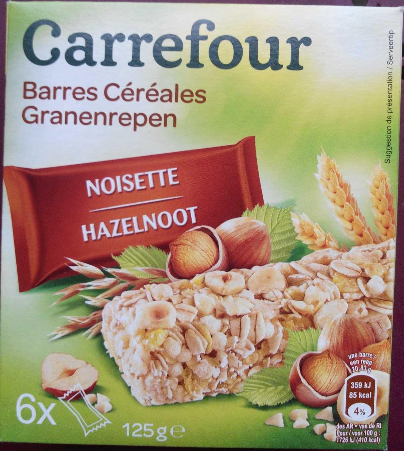 Barres céréales noisette - Product - fr