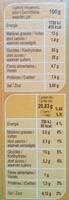 Barres céréales noisette - Información nutricional - fr