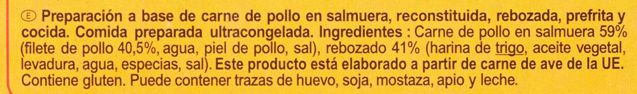 Fingers de poulet - Ingredientes - es