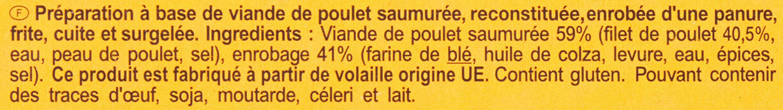 Fingers de poulet - Ingredients - fr