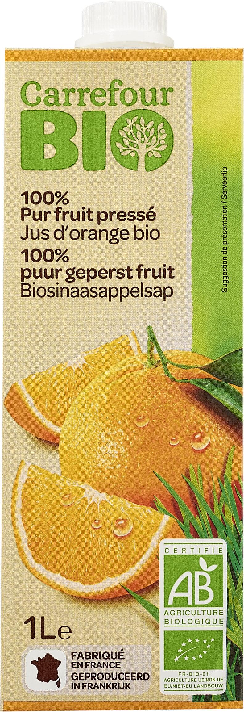 Jus d'orange bio 100% pur fruits pressé - Produit - fr