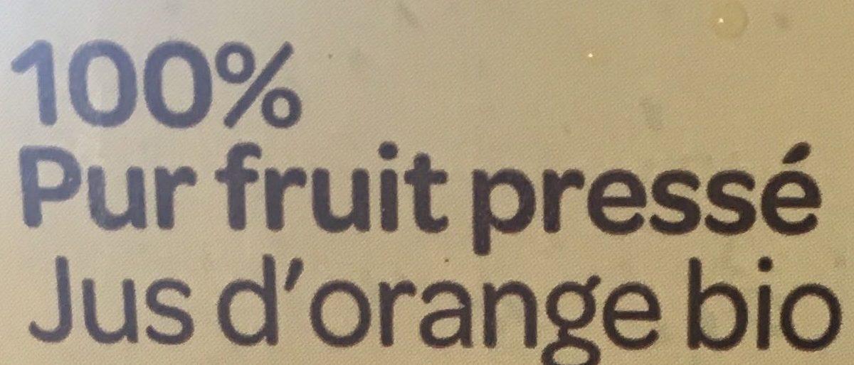 Jus d'orange bio 100% pur fruits pressé - Ingrédients - fr