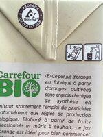 Jus d'orange bio 100% pur fruits pressé - Instruction de recyclage et/ou informations d'emballage - fr