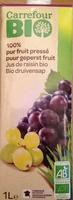 100 % pur fruit pressé, Jus de raisin bio - Product - fr