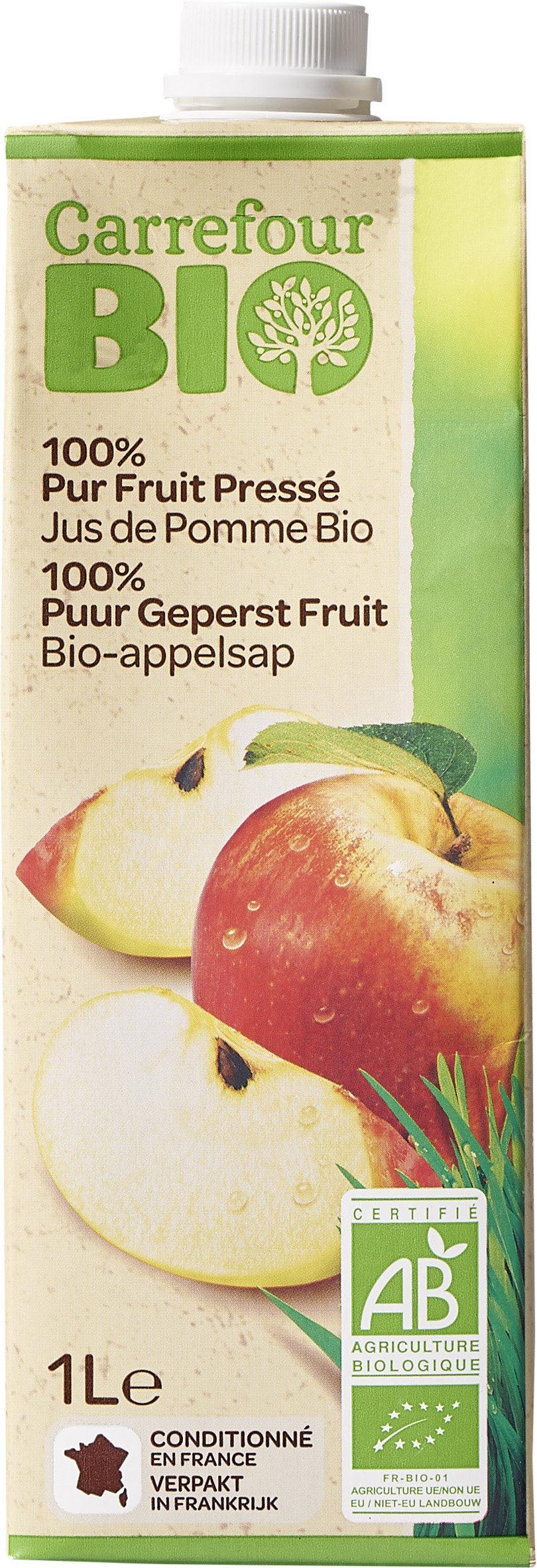 100% Pur Fruit Pressé Jus de Pomme Bio - Product