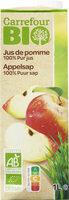 100% Pur Fruit Pressé Jus de Pomme Bio - Produit - fr