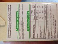 100% Pur Fruit Pressé Jus de Pomme Bio - Voedigswaarden
