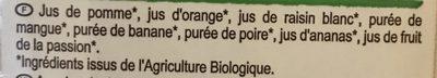 Jus Multifruits Bio 100% Purs Fruits Pressés - Ingrediënten - fr