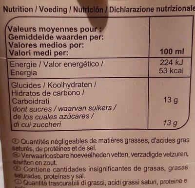 Jus multifruits - Informations nutritionnelles - fr