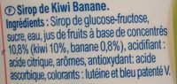 Sirop Kiwi Banane - Ingredienti - fr