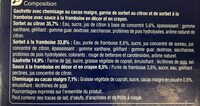 Citron Framboise - Ingredientes - fr