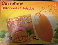 Fruits exotiques coeur vanille - Informació nutricional