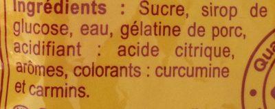Banana fraise - Ingredients
