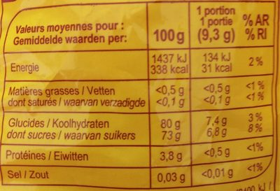 Banana fraise - Nutrition facts
