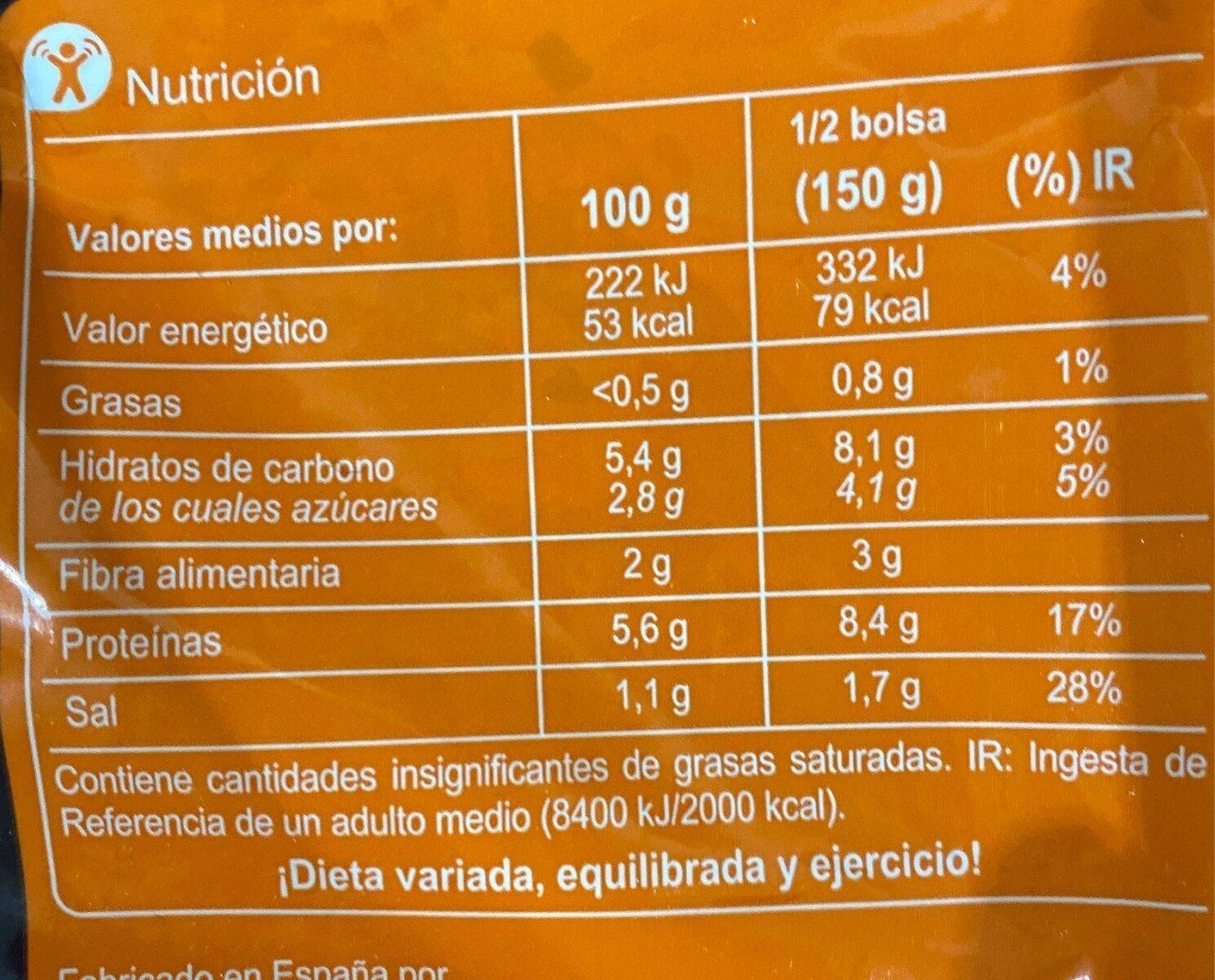 Relleno para fajitas - Informations nutritionnelles - es
