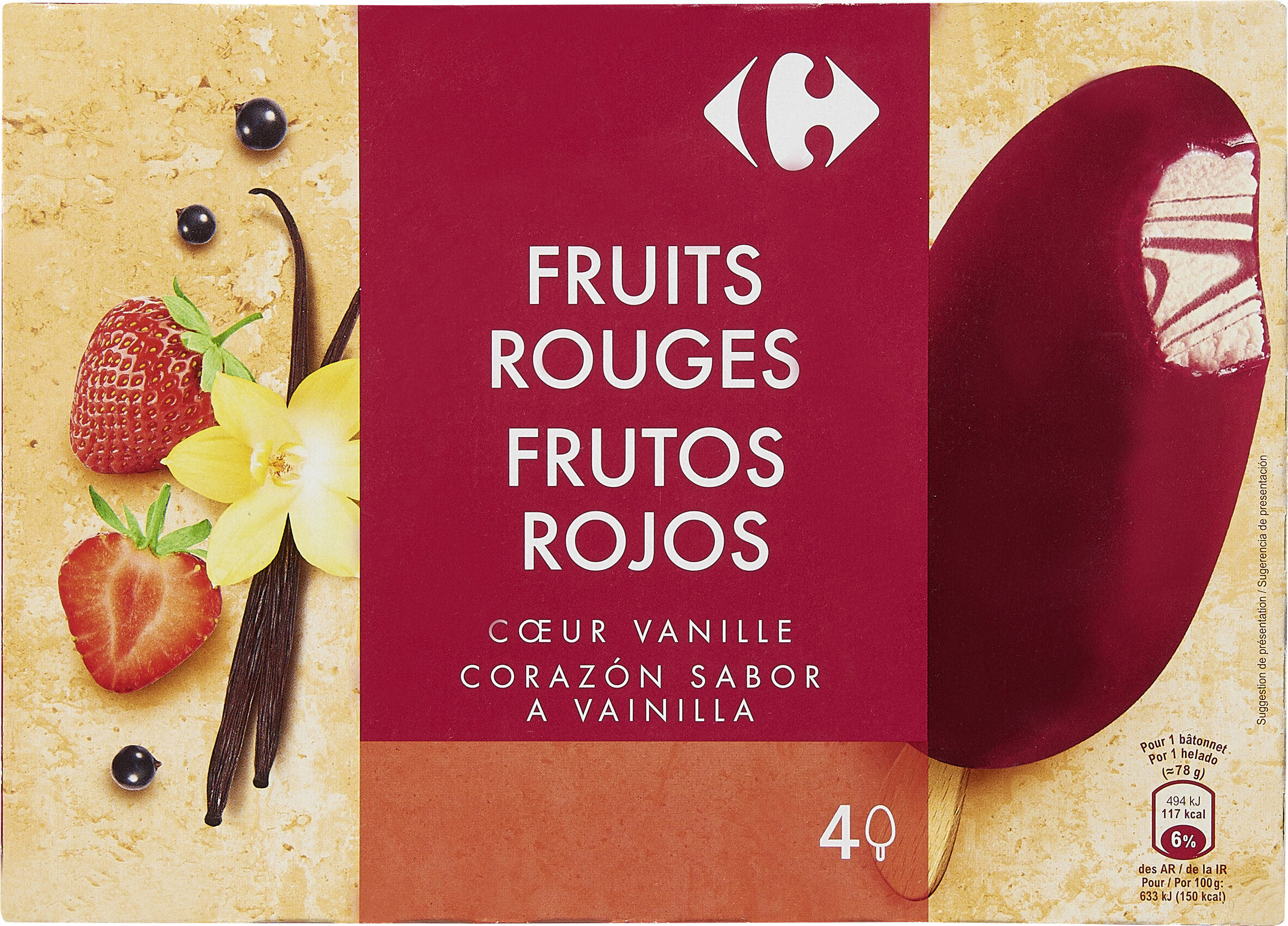 Fruits Rouges Coeur Vanille - Producto