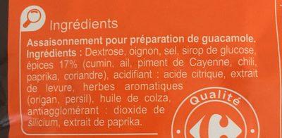 Mélange d'épices pour Guacamole - Ingredienti - fr
