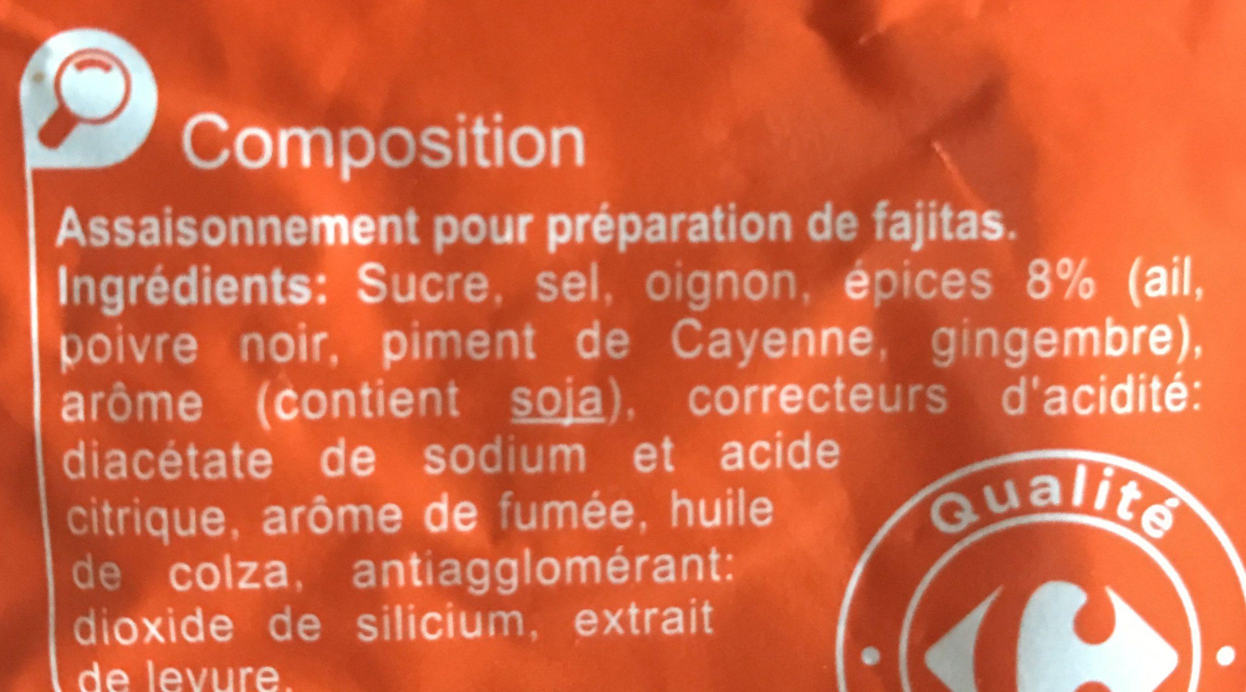 Mélange d'épices pour FAJITAS - Ingredientes - fr