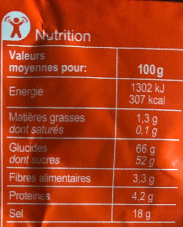 Mélange d'épices pour FAJITAS - Información nutricional - fr