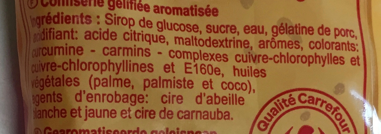 Grizzly - Ingrediënten - fr
