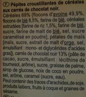 CRUNCHY Muesli Chocolat noir intense - Ingrédients