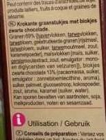 CRUNCHY Muesli Chocolat noir intense - Ingrediënten - nl