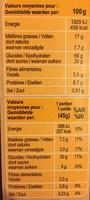 CRUNCHY Muesli Chocolat noir intense - Voedingswaarden - fr