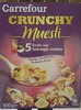 Carrefour Crunchy Muesli croustillant 5 Fruits secs - Product