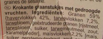Carrefour Crunchy Muesli croustillant 5 Fruits secs - Ingrediënten - nl