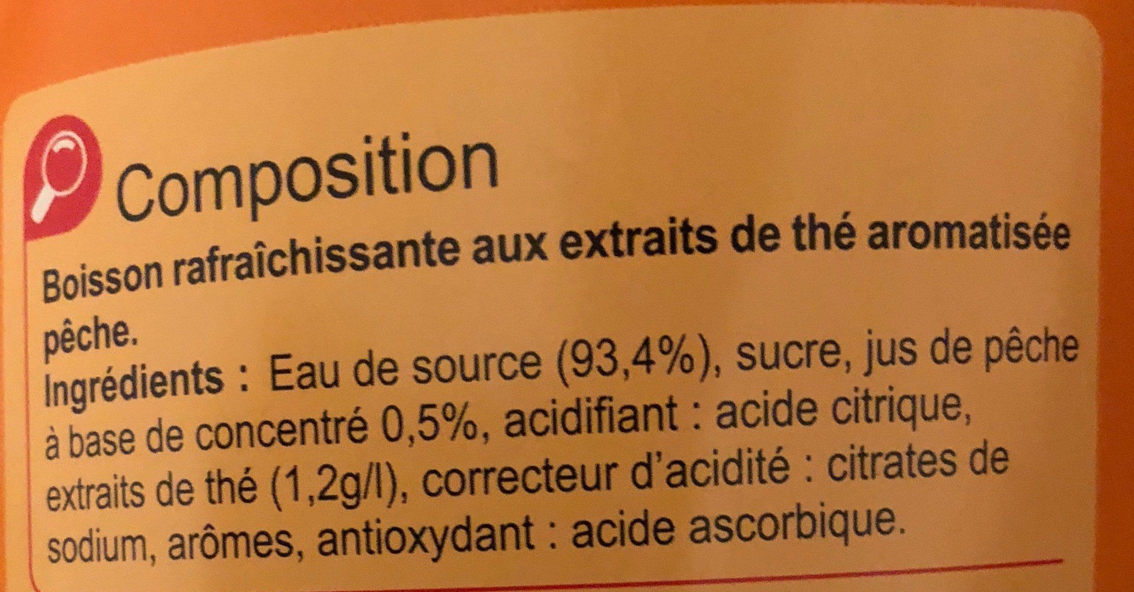 Iced Tea Saveur Pêche - Ingredients - fr