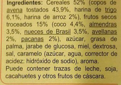 Crunchy Muesli 4 Fruits Secs - Ingrédients