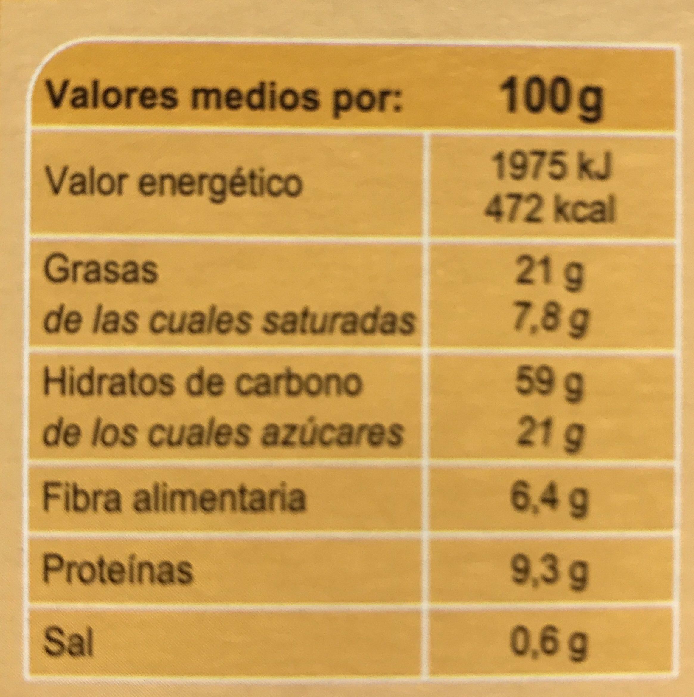 Crunchy Muesli 4 Fruits Secs - Informations nutritionnelles
