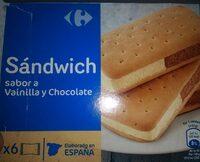 Sándwich sabor a vainilla y chocolate - Producte - es