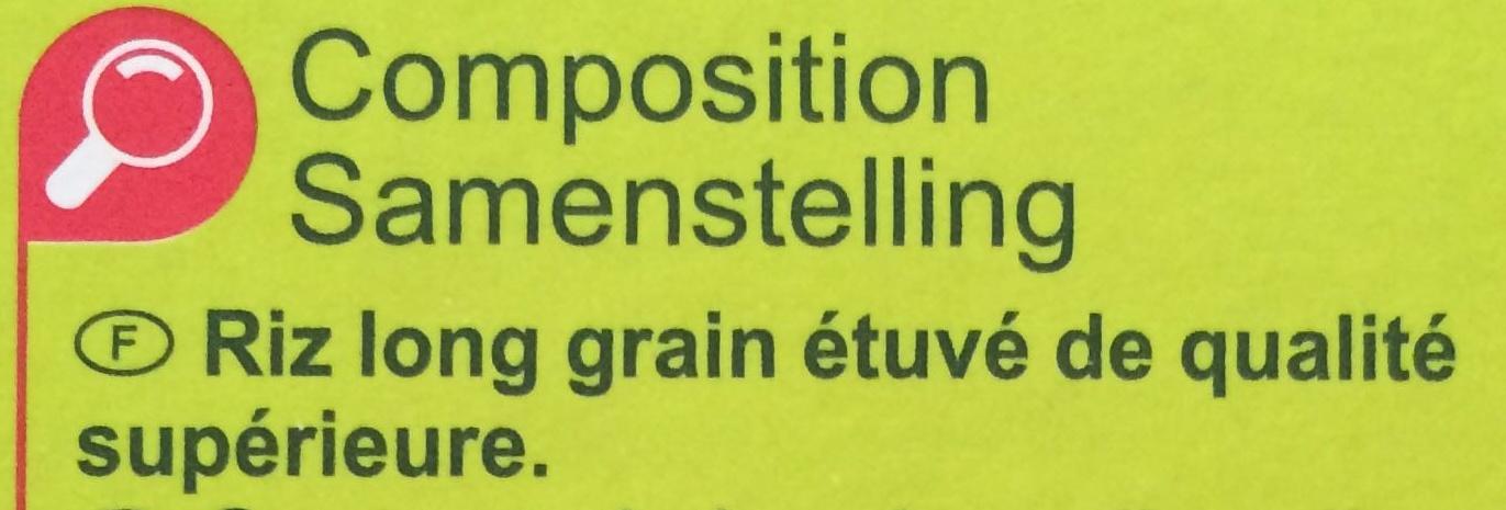 Riz long grain - Ingrédients