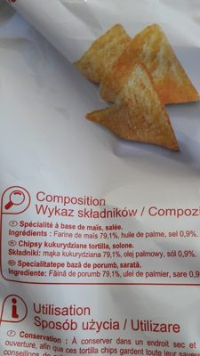 Tortilla chips - Ingredients - fr