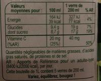 Orange 100 % Pur Fruit Pressé Sans Pulpe - Nutrition facts