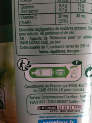 Pur Jus Orange - Recyclinginstructies en / of verpakkingsinformatie - fr