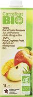 100% Purs Fruits Pressés Jus de Pomme et de Mangue Bio - Product