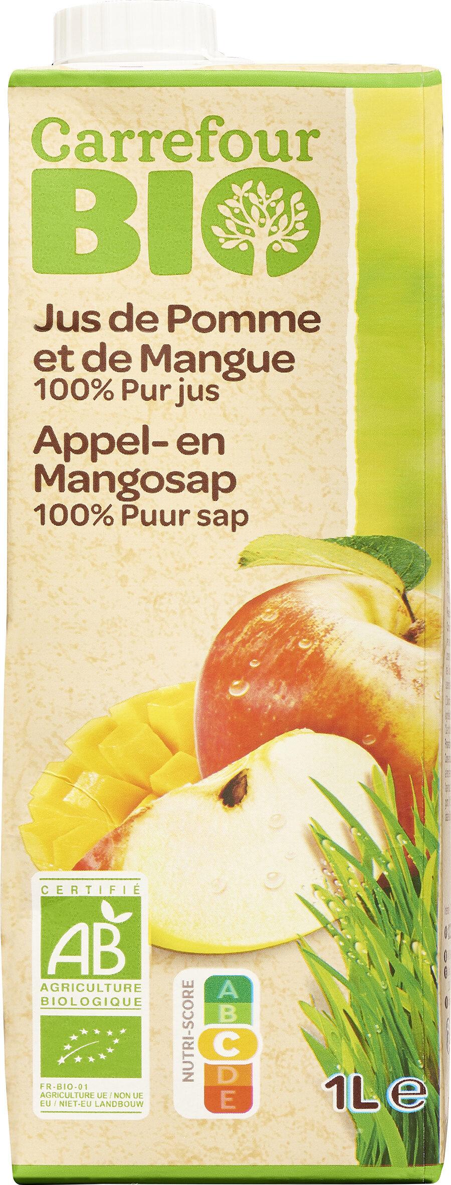 100% Purs Fruits Pressés Jus de Pomme et de Mangue Bio - Product - fr